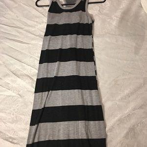 Grey & black maxi dress